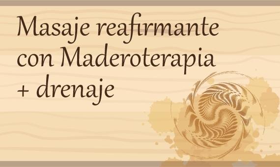 Masaje Reafirmante con Maderoterapia + Drenaje (5 sesiones)